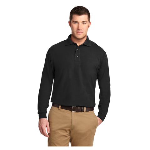 Port Authority Tall Silk Touch Long Sleeve Polo