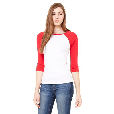 Bella + Canvas Bella 3/4 Sleeve Baseball T