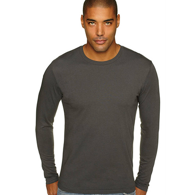 Next Level Mens Cotton Long Sleeve Crew