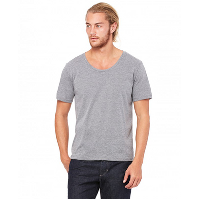 Bella + Canvas Mens Jersey Wide Neck T-Shirt