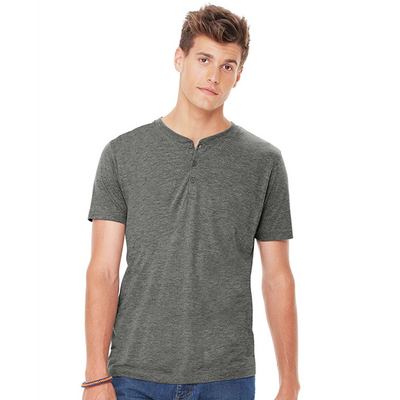 Bella + Canvas Mens Triblend Short Sleeve Henley