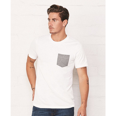 Bella + Canvas Mens Jersey Short Sleeve Pocket T-Shirt