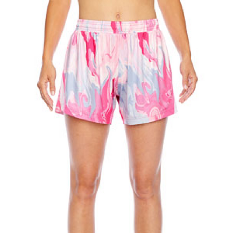 Team 365 Ladies Tournament Sublimated Pink Swirl Short