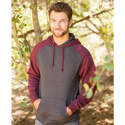 Independent Trading Co Raglan Hooded Pullover