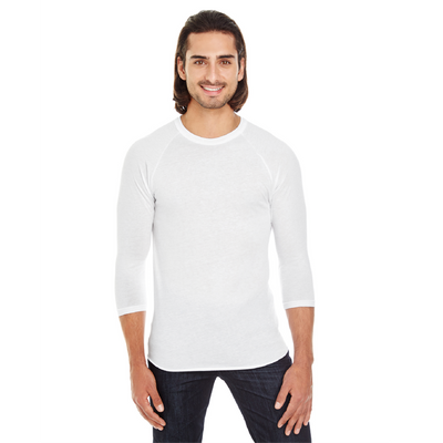 American Apparel Unisex Poly Cotton 3/4 Sleeve Raglan T-Shirt
