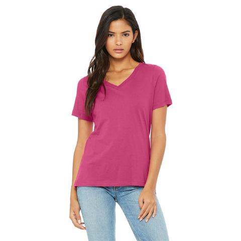 Bella + Canvas Ladies Relaxed Jersey Short Sleeve V Neck T-Shirt