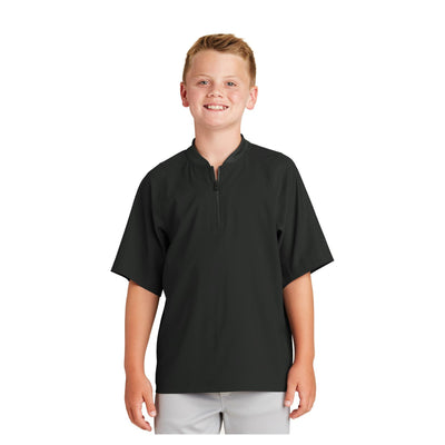 New Era Youth Cage Short Sleeve 1/4 Zip Jacket