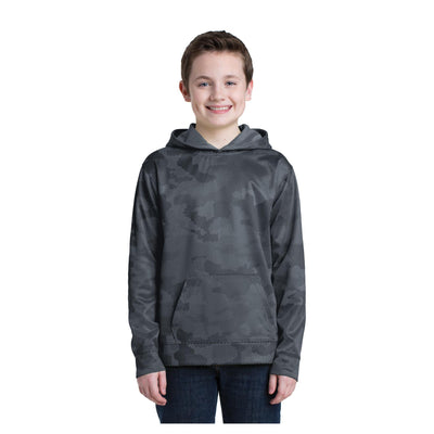 Sport-Tek Youth Sport Wick CamoHex Fleece Hooded Pullover