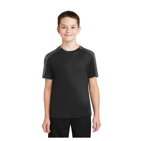 Sport-Tek Youth PosiCharge Competitor Sleeve Blocked Tee
