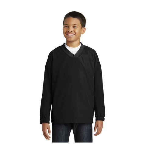 Sport-Tek Youth V Neck Raglan Wind Shirt