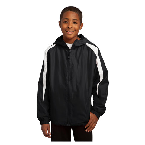 Sport-Tek Youth Fleece Lined Colorblock Jacket