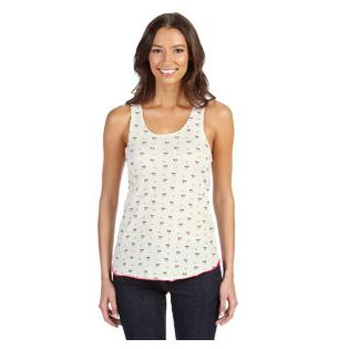 Alternative Apparel Ladies Meegs Printed Racerback Eco Jersey Tank