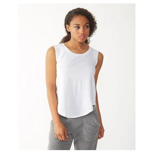Alternative Apparel Ladies Cap Sleeve Satin Jersey Crew