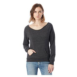 Alternative Apparel Ladies Maniac Eco Fleece Solid Sweatshirt