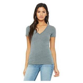 Bella + Canvas Bella Ladies Deep V Neck T