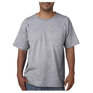 Bayside Adult Adult Short Sleeve Tee with Pocket