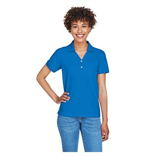 Devon & Jones Ladies Pima Piqu Short Sleeve Y Collar Polo