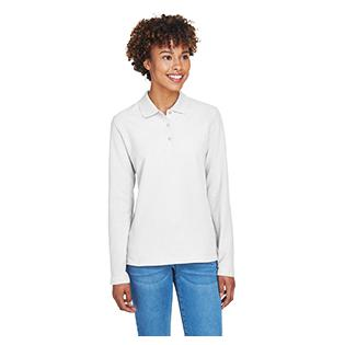 Devon & Jones Ladies Pima Piqu Long Sleeve Polo