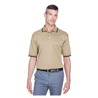 Devon & Jones Mens Tipped Perfect Pima Interlock Polo