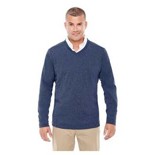 Devon & Jones Adult Fairfield Herringbone V Neck Pullover