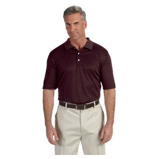 Devon & Jones Mens Pima Tech Jet Piqu Heather Polo