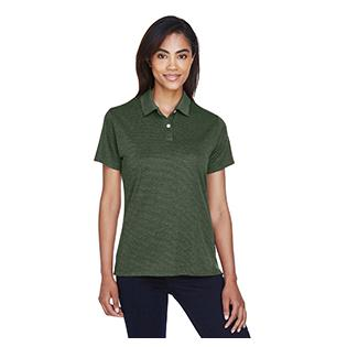 Devon & Jones Ladies Pima Tech Jet Piqu Heather Polo