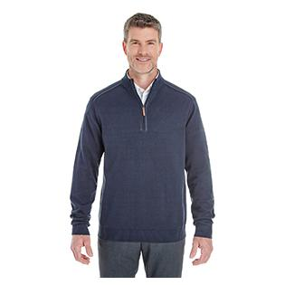 Devon & Jones Mens Manchester Fully Fashioned Quarter Zip Sweater