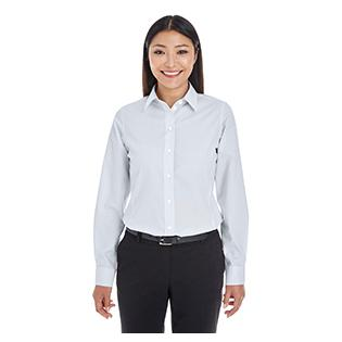 Devon & Jones Ladies Crown Collection Striped Shirt