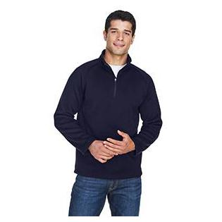 Devon & Jones Adult Bristol Sweater Fleece Quarter Zip