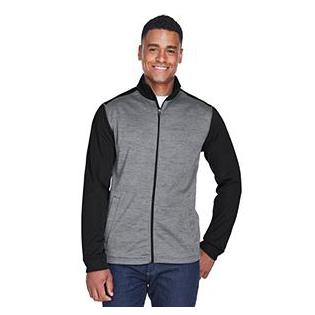 Devon & Jones Mens Newbury Colorblock Mlange Fleece Full zip