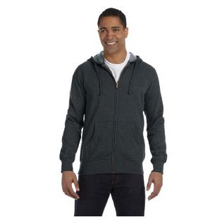 Econscious Mens 7 oz. Organic/Recycled Heathered Full Zip Hood