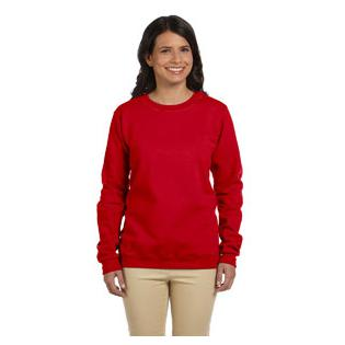 Gildan Ladies Heavy Blend 8 oz. 50/50 Fleece Crew