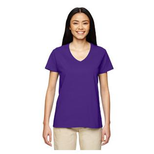 Gildan Ladies Heavy Cotton 5.3 oz. V Neck T-Shirt