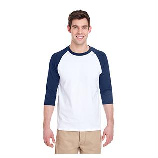 Gildan Adult Heavy Cotton 5.3 oz. 3/4 Raglan Sleeve T-Shirt
