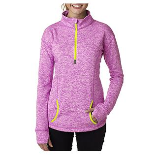 J America Ladies Cosmic Fleece Quarter Zip