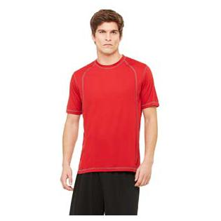 All Sport Mens Short Sleeve Interlock Pieced T-Shirt