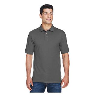 Harriton Mens 6 oz. Ringspun Cotton Piqu Short Sleeve Polo
