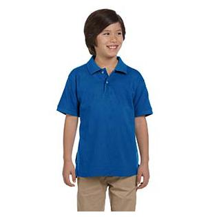 Harriton Youth 6 oz. Ringspun Cotton Piqu Short Sleeve Polo
