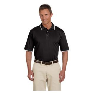 Harriton Adult 6 oz. Short Sleeve Piqu Polo with Tipping