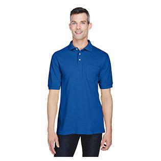 Harriton 5.6 oz. Easy Blend Polo with Pocket
