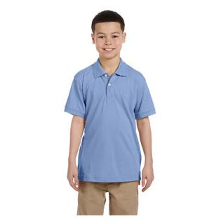 Harriton Youth 5.6 oz. Easy Blend Polo