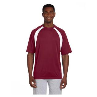 Harriton Adult 4.2 oz. Athletic Sport Colorblock T-Shirt
