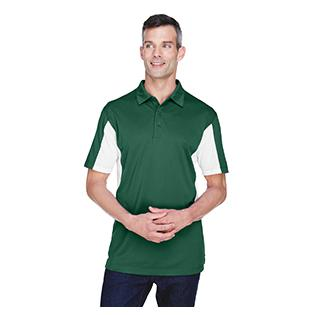Harriton Mens Side Blocked Micro Piqu Polo