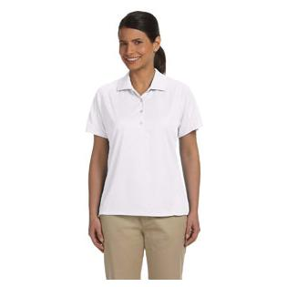 Harriton Ladies 3.8 oz. Polytech Mesh Insert Polo