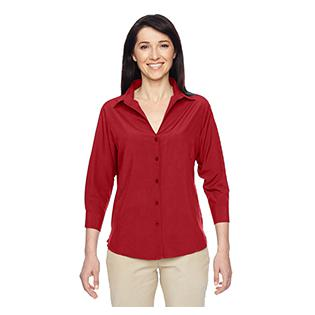 Harriton Ladies Paradise 3/4 Sleeve Performance Shirt