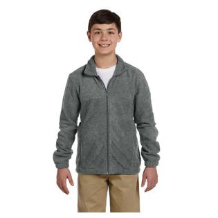 Harriton Youth 8 oz. Full Zip Fleece