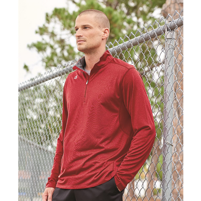 Champion Vapor Performance Heather Quarter Zip Pullover