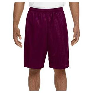 A4 Adult Nine Inch Inseam Mesh Short
