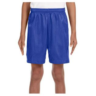 A4 Youth Six Inch Inseam Mesh Short