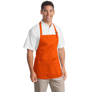 Port Authority Medium Length Apron with Pouch Pockets